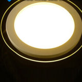 12W AC95-240V White LED Round Panel Light