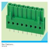Fiche mâle 8 broches de PCB dans le bloc de jonction vert