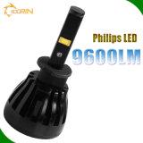 Farol do jogo 96W 9600lm 24V H1 H7 H4 do diodo emissor de luz do fornecedor da manufatura do OEM com as 4 microplaquetas dos lados
