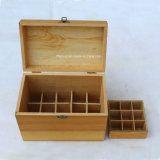 Eco-Friendly Compartimentos em madeira de pinho Personalizado Janela clara caixas de chá em madeira