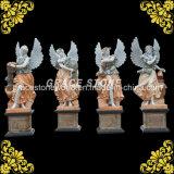 대리석 4 절기 신 조각품