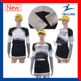 Desgaste do desporto de sublimação de claque vestido menina personalizada