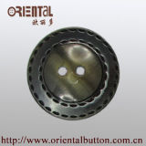 ABS Plated Buttons con Two Hole in Brush Anti-Brass Color