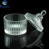Vaso di vetro della caramella della decorazione domestica con il coperchio di vetro