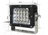 8 pouces 100W imperméable haute puissance de feu de travail de voiture à LED 15000 lm