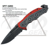 "5 ""Closed Red Handle Spring Cuchillo Asistente con Hoja 420 (5PF7-50RD)"