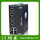 De beheerde Schakelaar Ethernet van de Vezel van 8 Havens Optische met Gigabit Combo