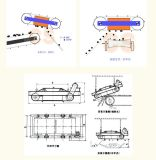Eletro tipo magnético Self-Cleaning seco da correia do separador para remover o ferro