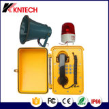 Impermeable al aire libre Koontech Teléfono de Emergencia Industrial Knsp-08 Sistema de llamada de teléfono