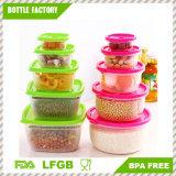 5 in 1 conservazione di plastica pp facile lavare e sano sicuro asciutto possono essere contenitore di alimento utilizzato della casella di Formicrowave