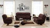 Best-Selling tejido comercial contemporáneo salón sofá reclinable 1+2+3 (HC681)