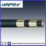 Le flexible hydraulique SAE100 R16 avec du fil en acier tressé double