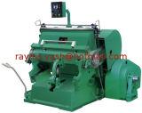 Máquina que arruga y que corta con tintas plateada