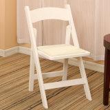Silla de plegamiento blanca de madera sólida de la silla blanca barata de Wimbledon para el acontecimiento y la hospitalidad