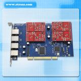 Carta Port del PCI dell'asterisco 4 FXO FXS di Tdm410p, carta sana analogica dell'asterisco, carta di telefonia di VoIP, compatibile con tutta la carta analogica di Digium