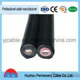 UL y TUV aprobado 2*6mm2 de doble núcleo del cable de energía solar fotovoltaica