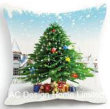 Het vierkante Klassieke Kussen W/Filling van de Stof van het Decor van het Ontwerp van de Kerstman X'mas