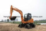 Excavador hidráulico rodado 7 toneladas del excavador con Yanmar