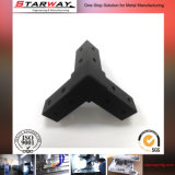 Schwarze Präzisions-maschinell bearbeitenteile durch CNC Machning Sahnghai Factroy