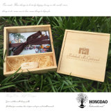 Hongdao hölzerner Kasten für USB und Hochzeits-Foto-Verpackung