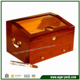 Коробка сигары твердой древесины изготавливания изготовленный на заказ высокая лоснистая