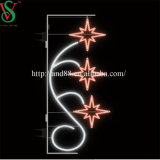 クリスマスの通りLEDはLEDの星のモチーフライトをつける