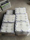 Preiswerte weiße Steinmarmorkunst-Mosaik-Fußboden-Fliesen für Badezimmer