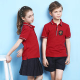 Het rode Eenvormige Ontwerp van de School van de Jonge geitjes van de Uniformen van de Lage school