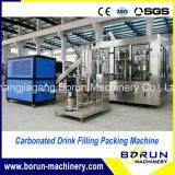 3 em 1 maquinaria de enchimento e tampando Carbonated da água de soda