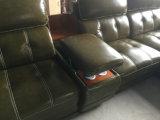 現代家具L形の部門別の革ソファー(A848)