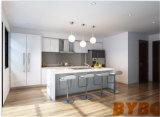 Kundenspezifischer moderner hoher glatter weißer Lack-Küche-Schrank by-L-113