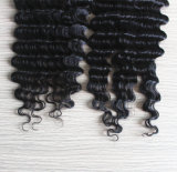 Chiusura brasiliana dei capelli di Remy di stile libero profondo dell'onda con i capelli del bambino