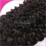 自然な黒髪の織り方の未加工ブラジルの巻き毛の人間の毛髪