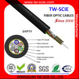 GYFTY 24 Core Fiber Optic Aerial Cable com fio de vidro