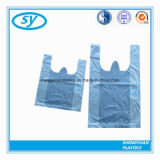 Sac à provisions en plastique de T-shirt de HDPE fait sur commande