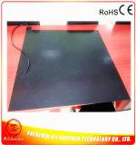 calefator da borracha de silicone do preto do calefator da impressora 3D de 600*600mm