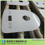 3mm/4mm/5mm/6mm Special Shape Tempered Touch Screen für Milk Heater mit White Silk Screen Printing