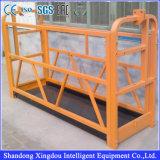 Plataforma suspendida limpieza de aluminio de la fachada del aire ajustable