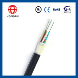 Câble fibre optique extérieur de faisceau à faible atténuation d'ADSS 144