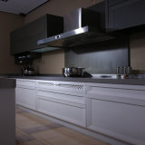 Armário Hangzhou do gabinete de cozinha da mobília da cozinha da madeira contínua de Welbom