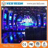El panel de pared al aire libre y de interior delgado del alquiler LED (espesor 73m m)