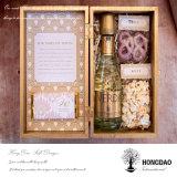 Hongdaoの未完成の木のワインボックス、ギフトBox_D