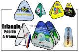 Customedデザイン倍の図形染料のSublamtionの印刷のスポーツのゴルフ表示はフレームの屋外の折る広告の印の立場の上の旗を飛び出る