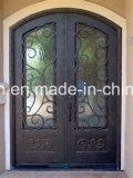 銅の右のInswingの錬鉄の出入口デザイン