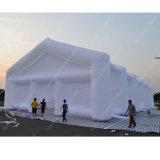 Weißes aufblasbares Zelt, Partei-Zelt. Hochzeits-Zelt. Cartent. Kampierendes Zelt