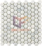 Em mármore branco Carrara Mosaico Mosaico sextavada para decorar (CFS1101)