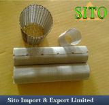Cartouche filtrante perforée de maille d'acier inoxydable, cylindre de filtre