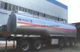 Petrolero 45000 L del petróleo acoplado del combustible de 45 metros cúbicos semi para la venta