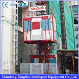 De Lift van het Hijstoestel van de bouw voor de Bouw met de MEDIO Kooi van de Capaciteit 1000kg van de Snelheid Dubbele of Enige