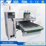 Macchina automatica di legno di CNC delle teste del router 4 di CNC del commutatore dello strumento
